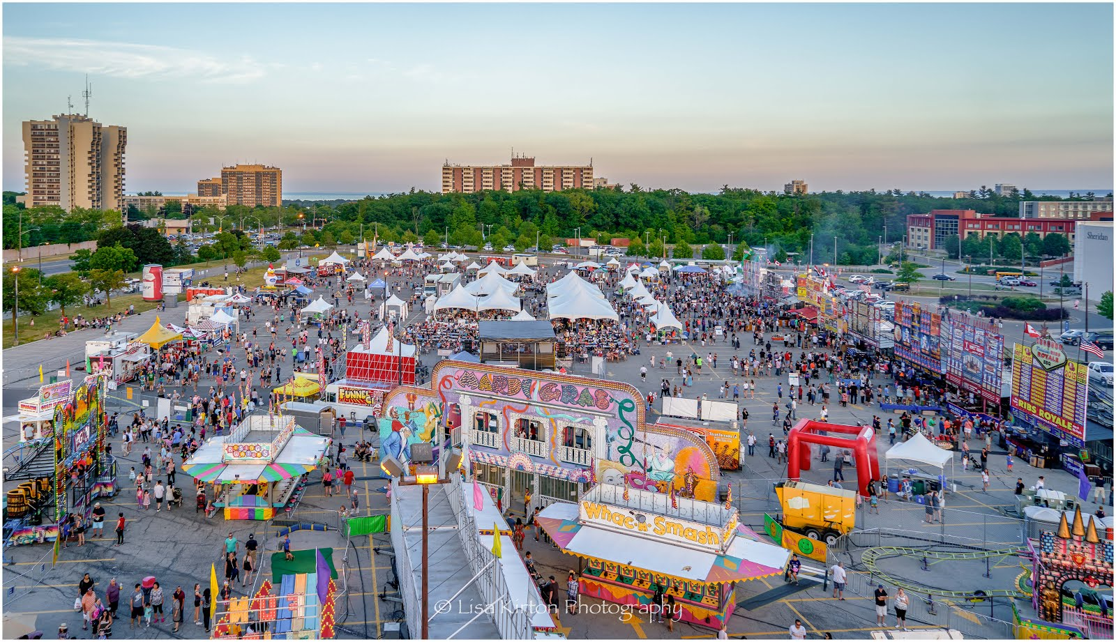 Ribfest Aerial View