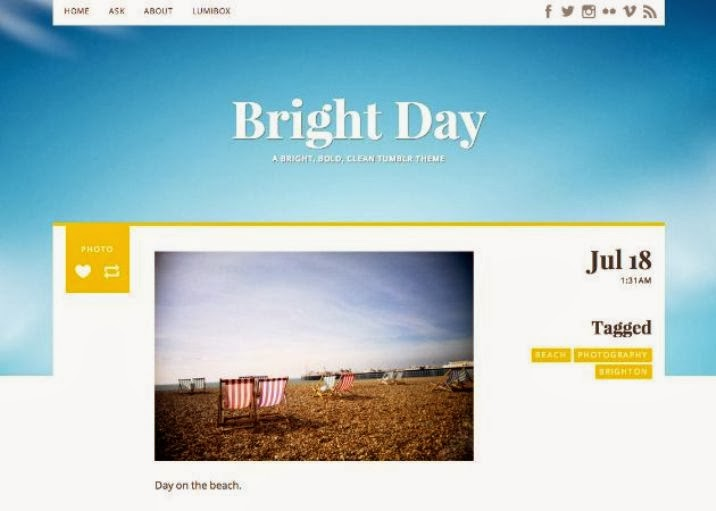 Bright Day Free Tumblr Theme