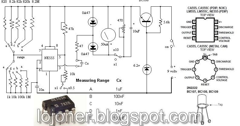 simple electronic project with component pin