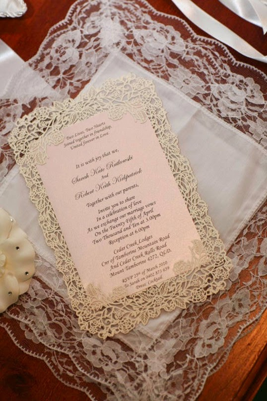Vintage Lace Wedding Invites