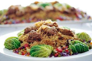 راقات كباب الحلة مع الأرز البسمتى