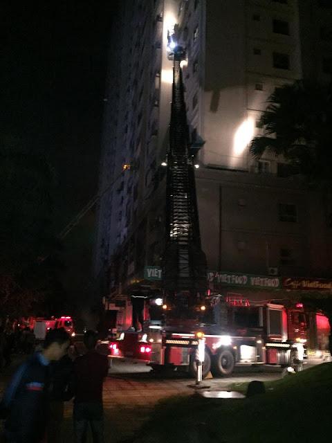 Cháy chung cư Xa La Hà Đông