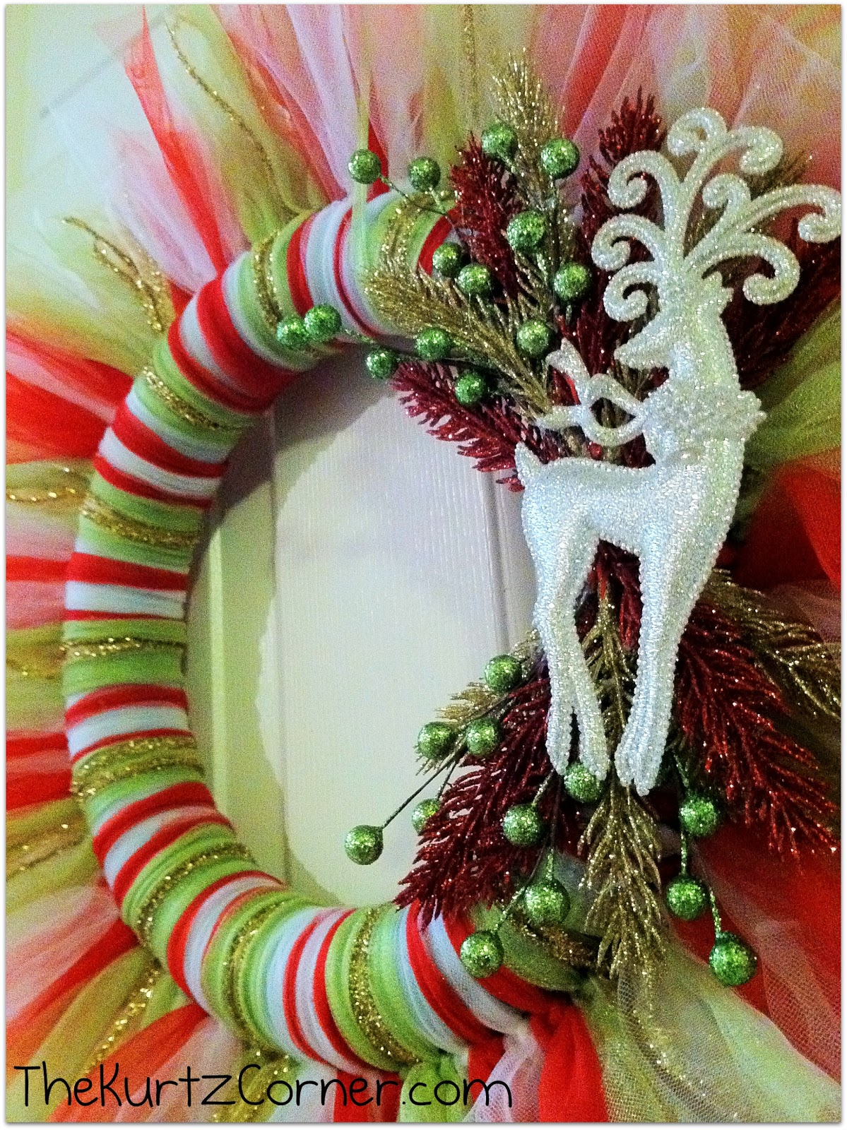 The kurtz corner tulle christmas wreath it 39 s so fluffy Christmas wreaths to make