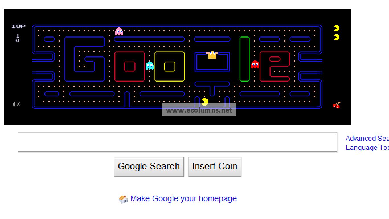 Google themes pacman - Google Pacman
