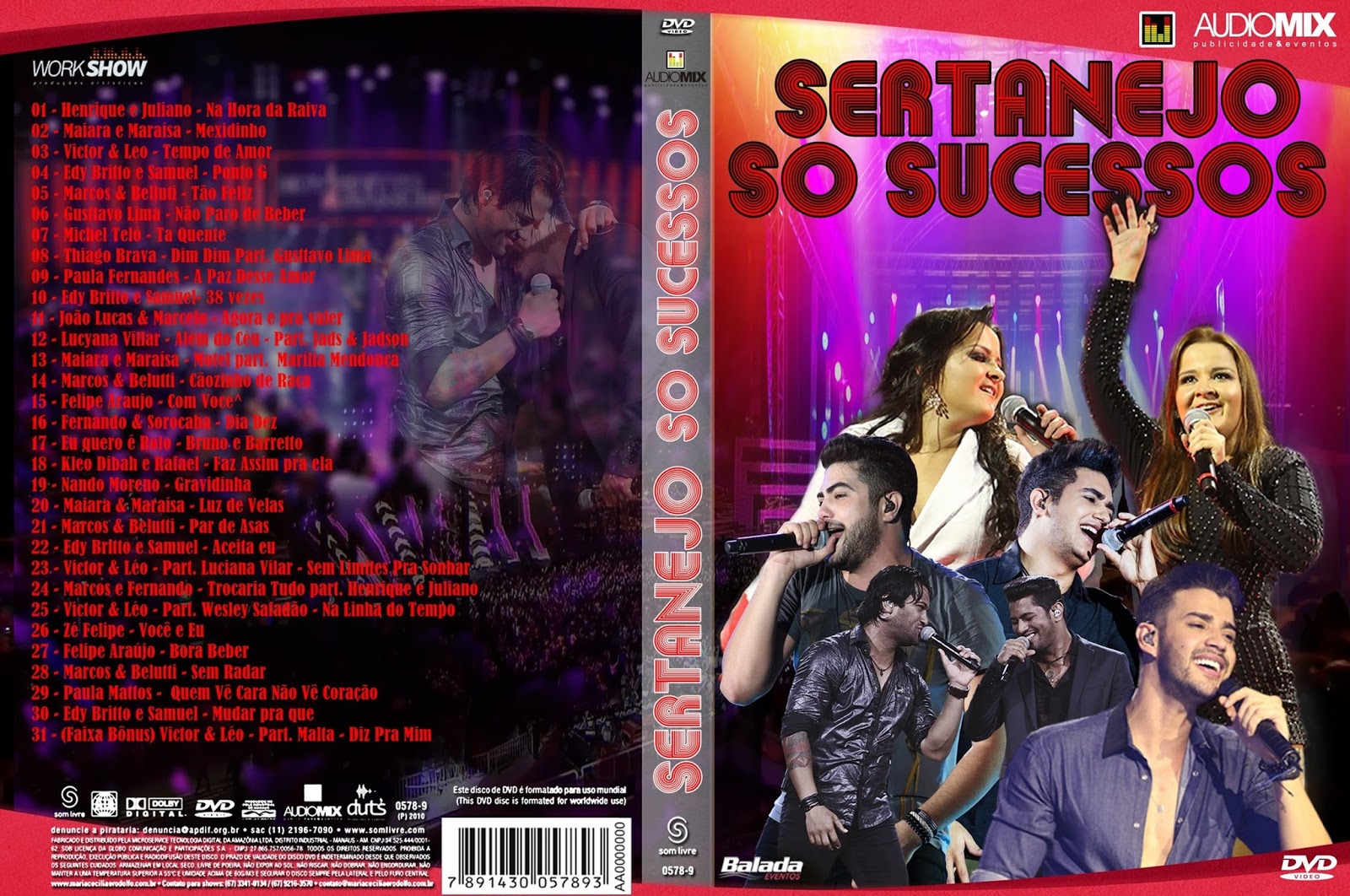 Download Sertanejo Só Sucessos DVD-R Sertanejo 2B 2BS 25C3 25B3 2BSucessos