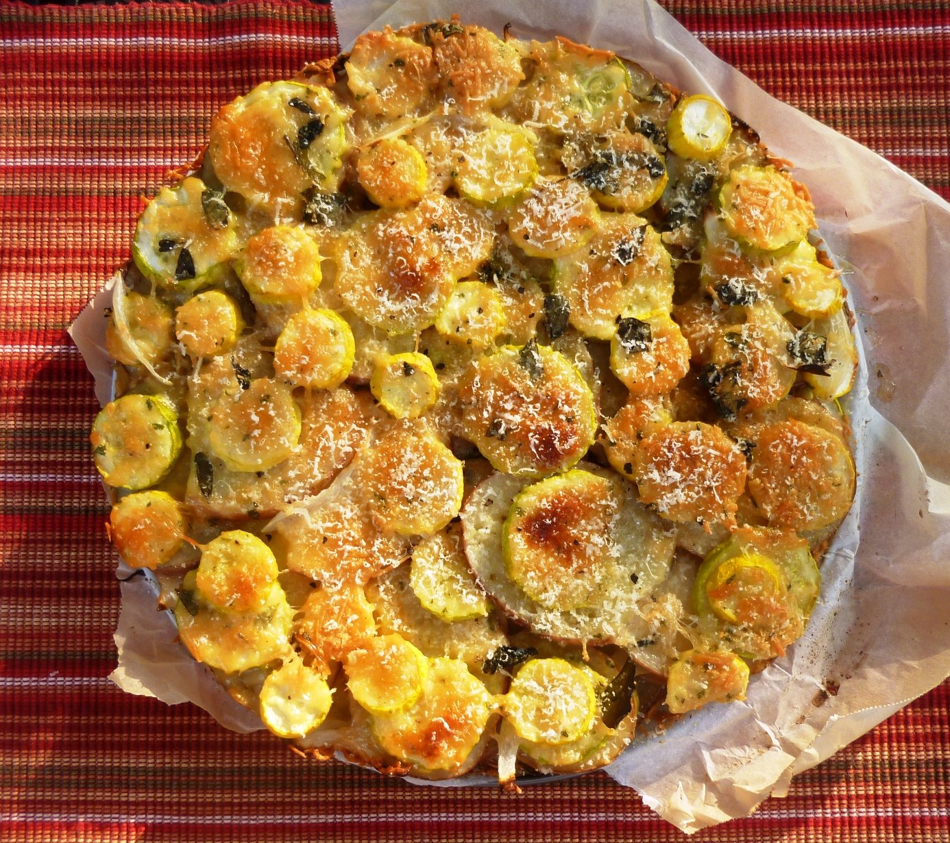 Herbed Summer Squash And Potato Torte Recipe — Dishmaps