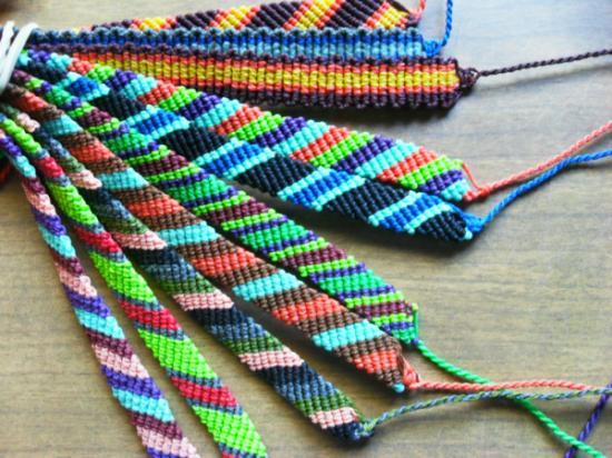 pulseras de lana