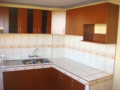 Muebles de melamina en puno reposteros color cedro 1 for Modelos de zapateras de melamina