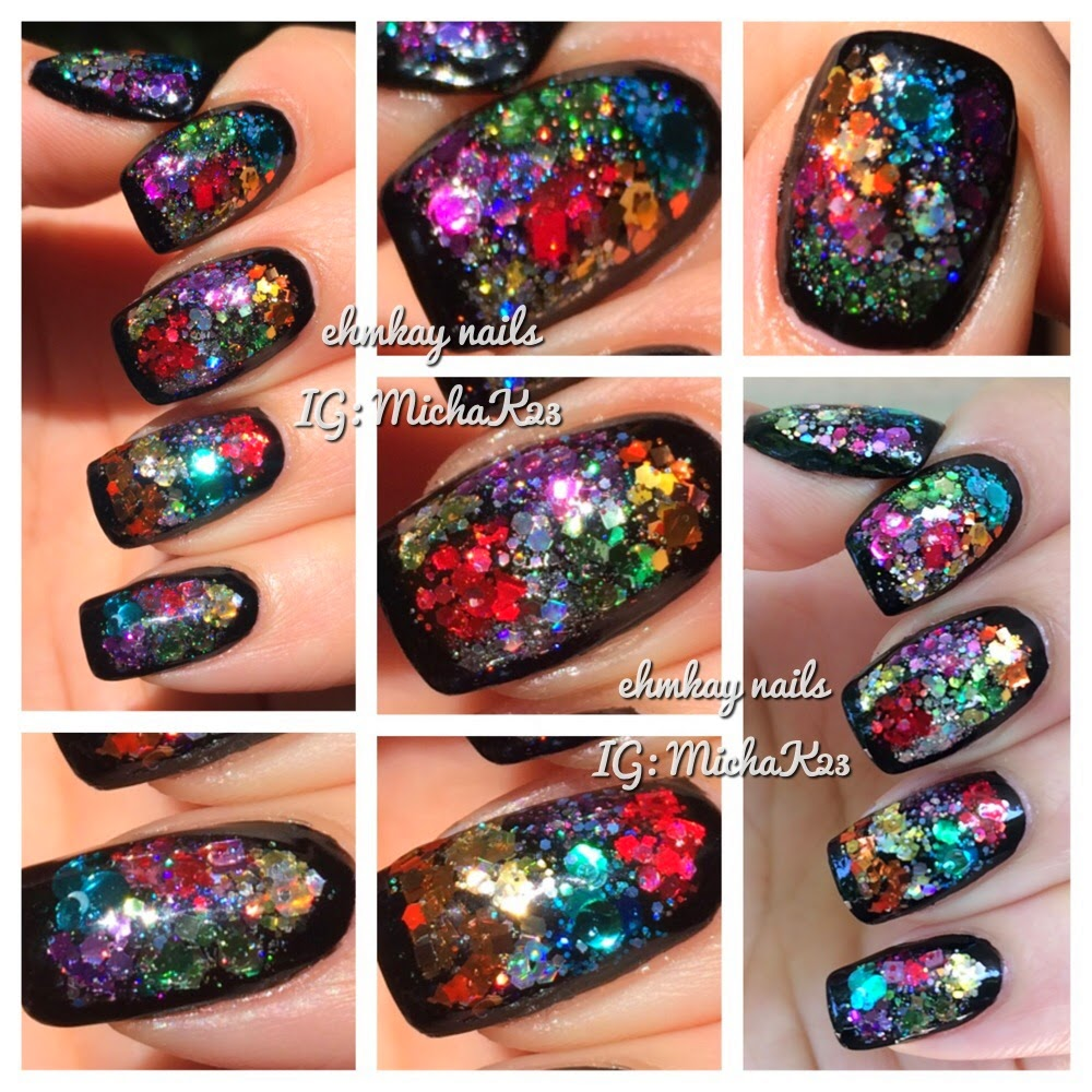 Ehmkay nails color block glitter framed nail art tutorial color block glitter framed nail art tutorial prinsesfo Images