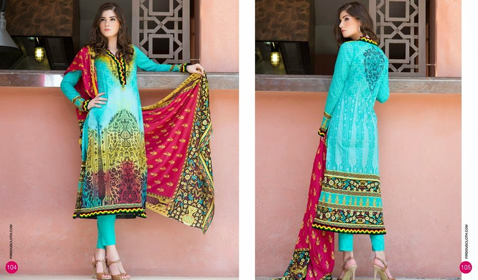 Firdous beautiful summer dresses lawn collection