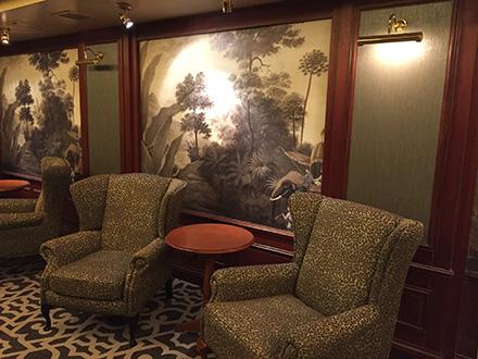 """Bar """"The Orient"""" Bateau de croisière Pacific Pearl - Décor Bengale sépia Ananbô"""