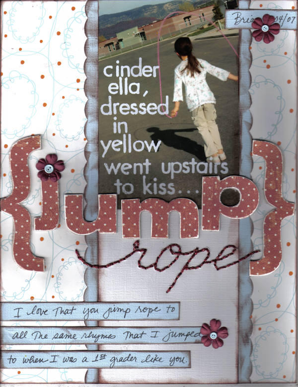Scrapbooking layout: Jumprope