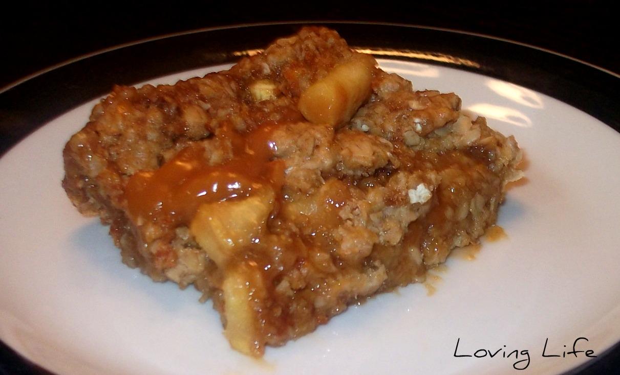 Loving Life: Apple Crisp and Easy Caramel Apple Bars