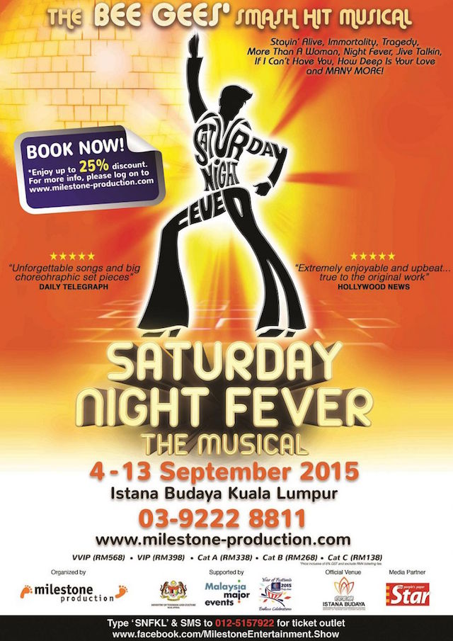 Saturday Night Fever The Musical Asian Tour 2015