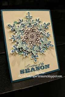 Festive Flurry Layered Snowflakes by Ida Chan #StampinUp Vancouver