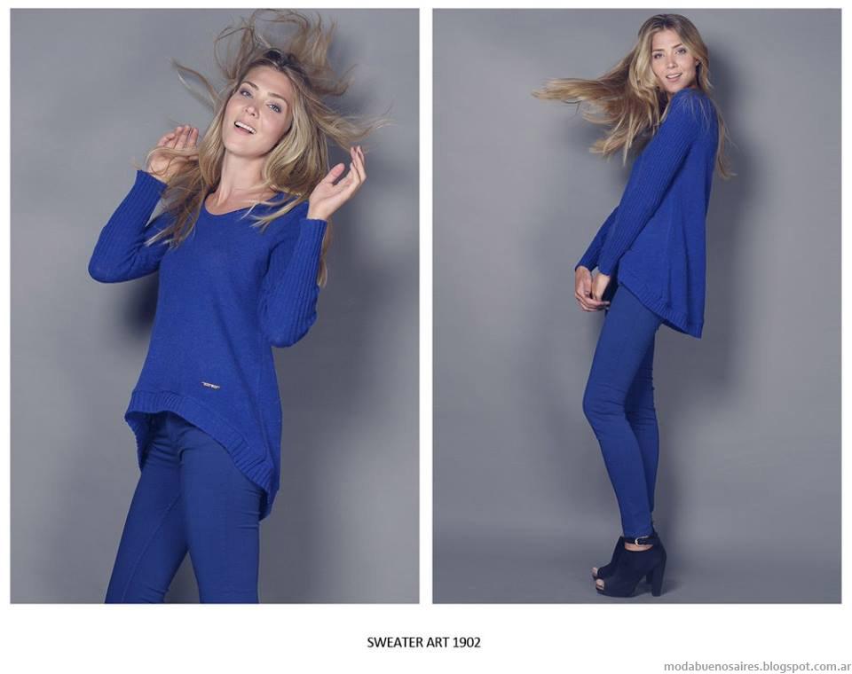 Moda invierno 2015 Agostina Bianchi moda tejidos.