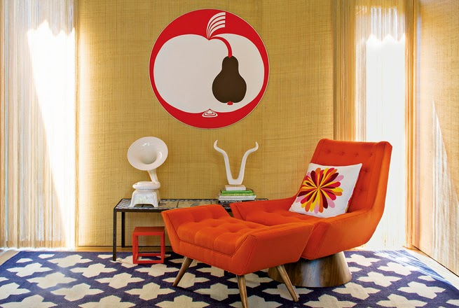 Farbenfrohes Design mit Keramik Einfluss in New Yorker Haus - entspanntes Wohnen im Case Study House Stil