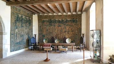 Château de Hautefort. Sala dels tapissos