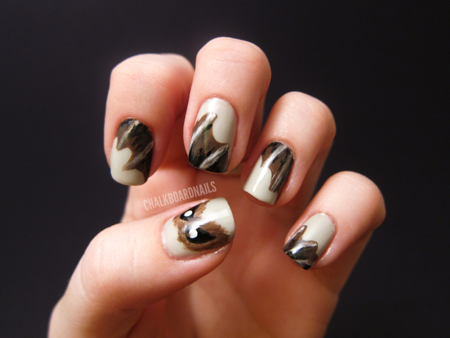 Bat Nails! - Bat Nails! Chalkboard Nails Nail Art Blog