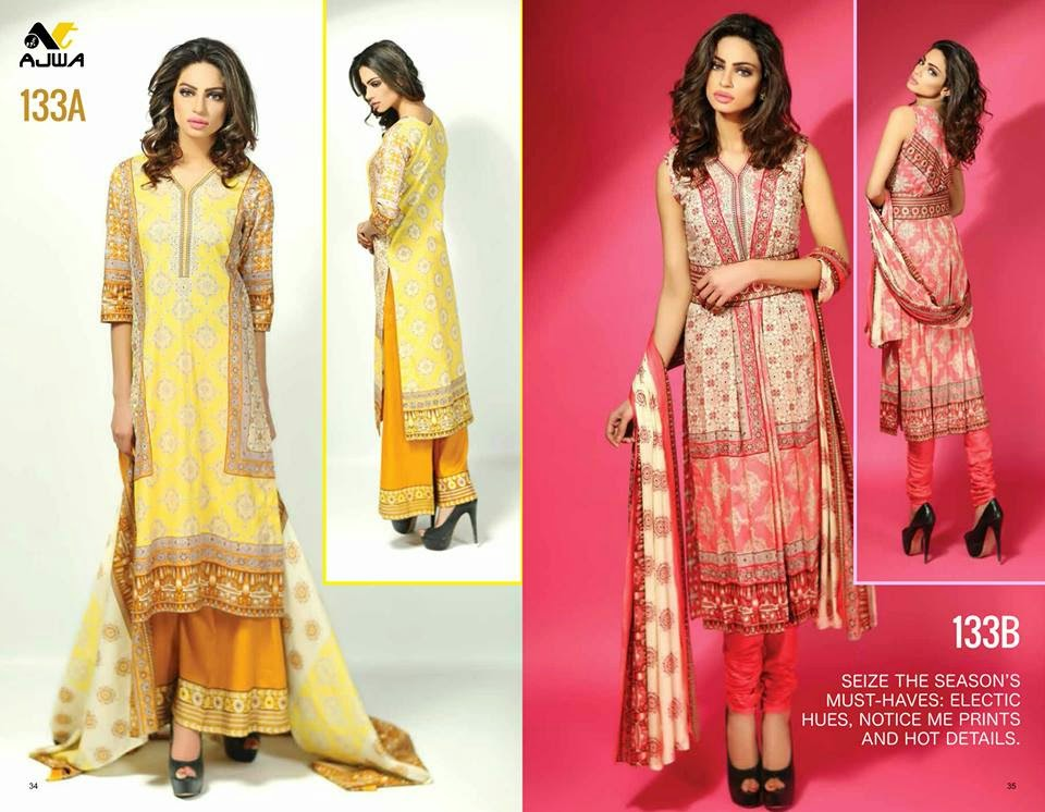 Ajwa lawn cotton summer dresses