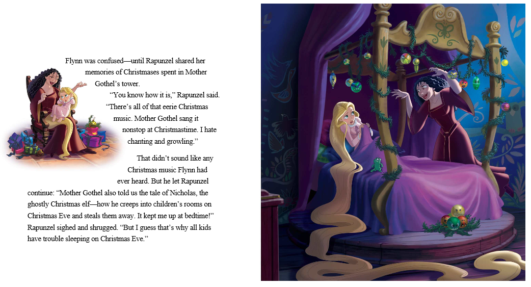 telling her things such as st nicolas kidnapped children and that left rapunzel up in fear on christmas eve that someone would take her away or that - Disney Christmas Storybook Collection