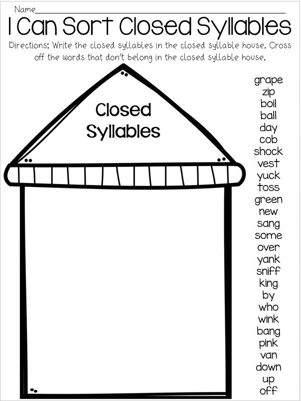Closed Syllables