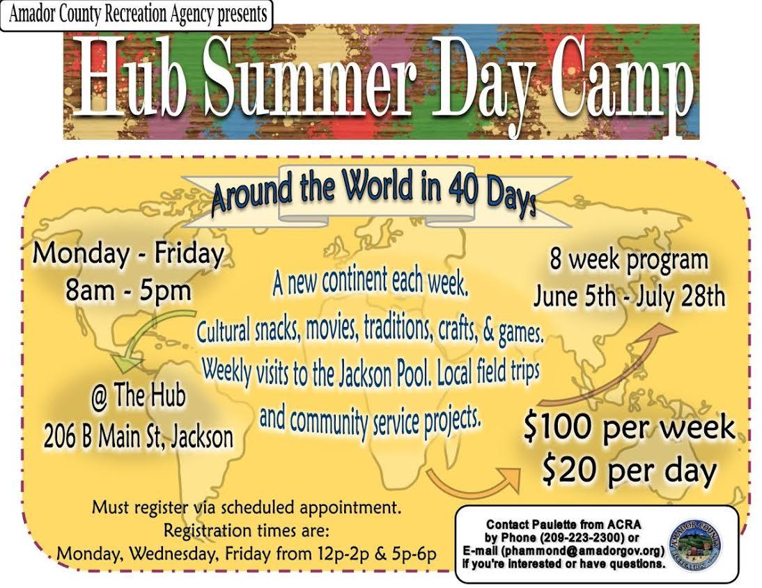 Hub Summer Day Camp - June 5 thru July 28