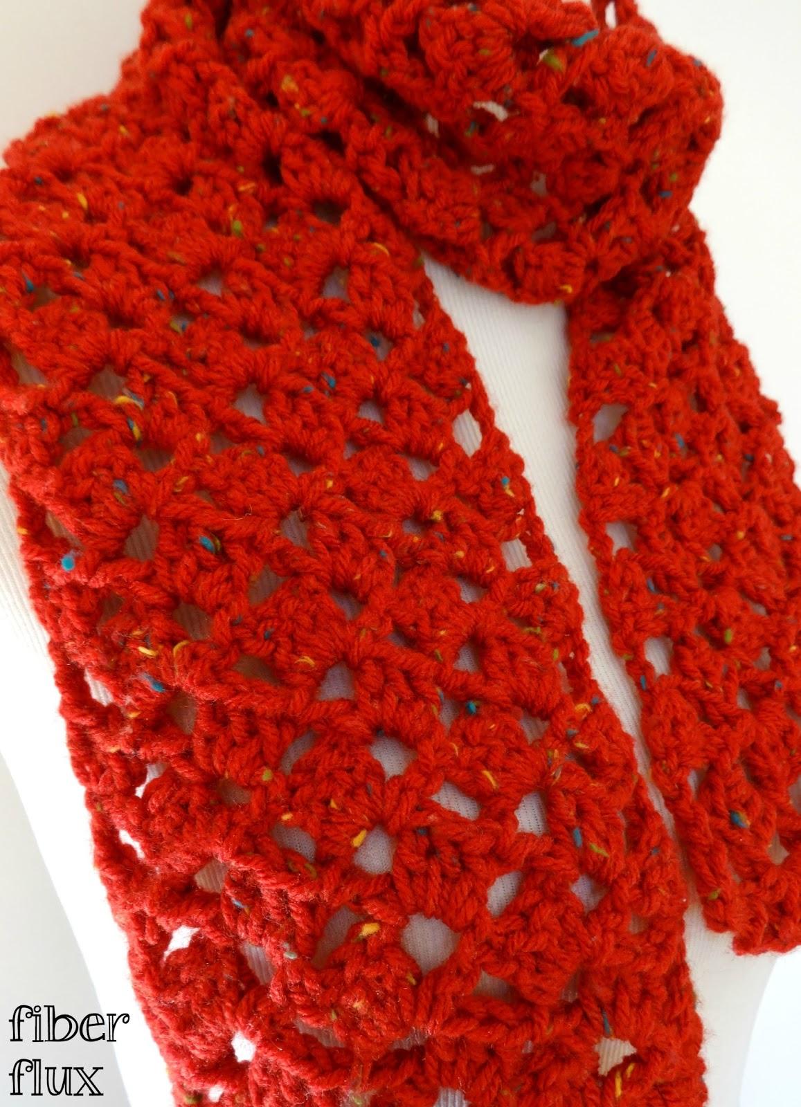 Fiber Flux: Free Crochet Pattern...Love Notes Scarf!