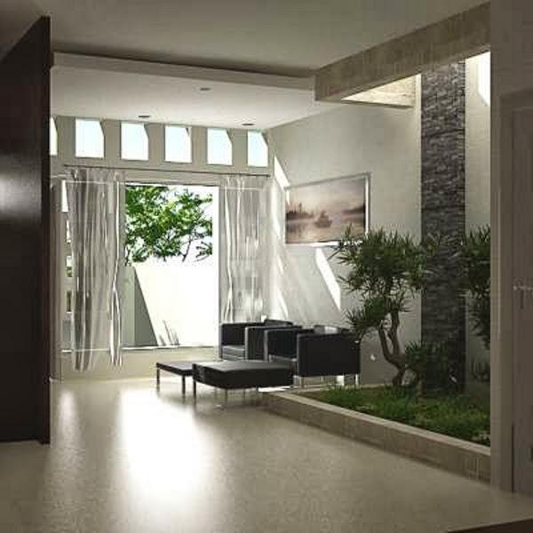 desain taman minimalis di dalam rumah