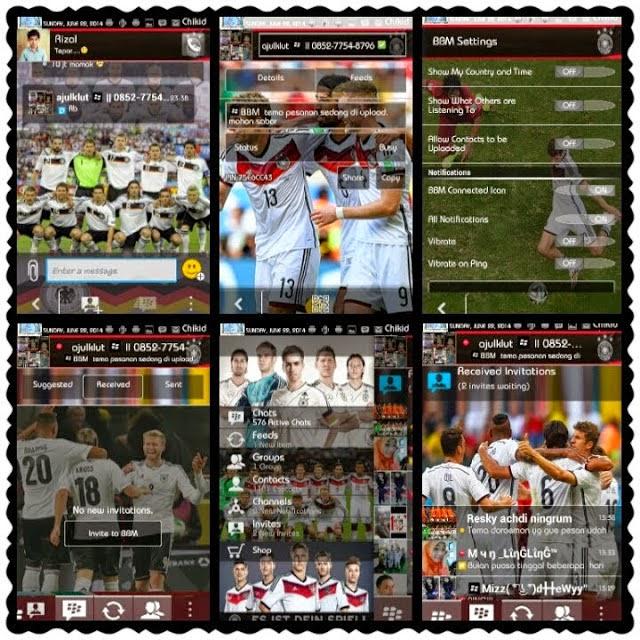 BBM Mod Apk Theme WorldCup 2014