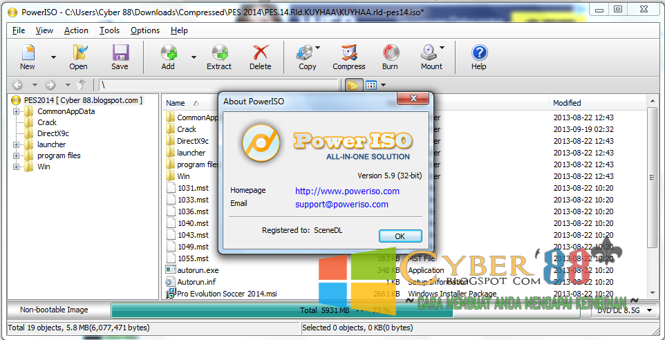 Download Power ISO 5.9 Full Version Final 32BIT & 64BIT