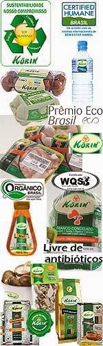 EU RECOMENDO: PRODUTOS KORIN Ovos e frangos sem antibióticos, alimentos orgânicos
