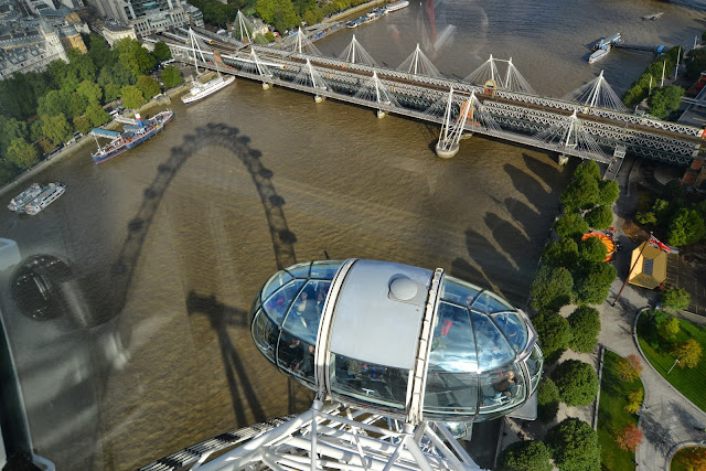 London Eye reflections in the Thames