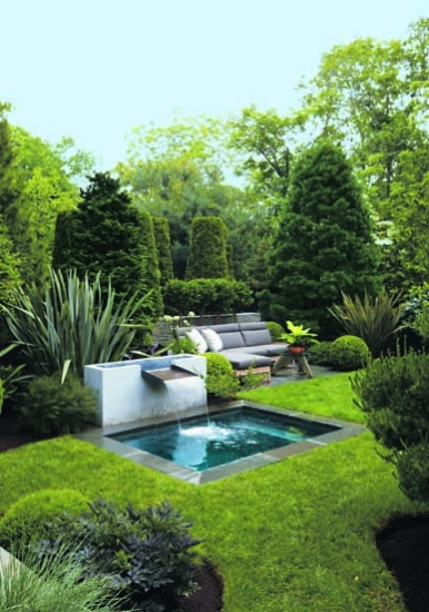 Mix and chic home tour a landscape designer 39 s stylish for Garden plunge pool