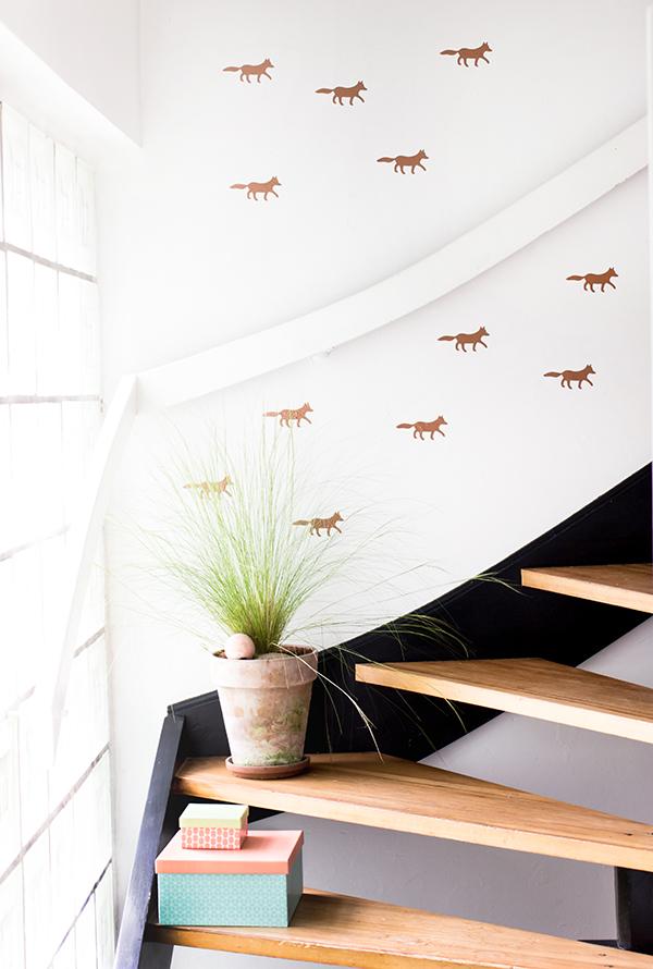 Funkelfüchse im Treppenhaus