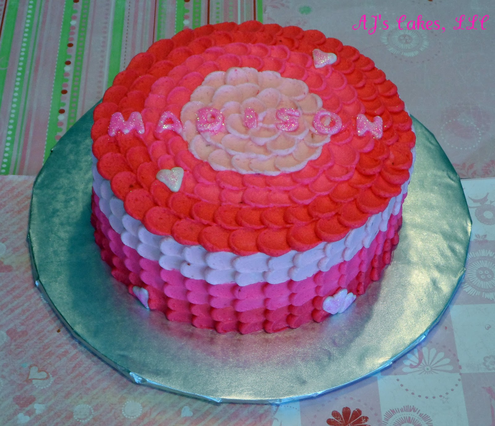 Ajs Cakes Valentines Birthday Cake
