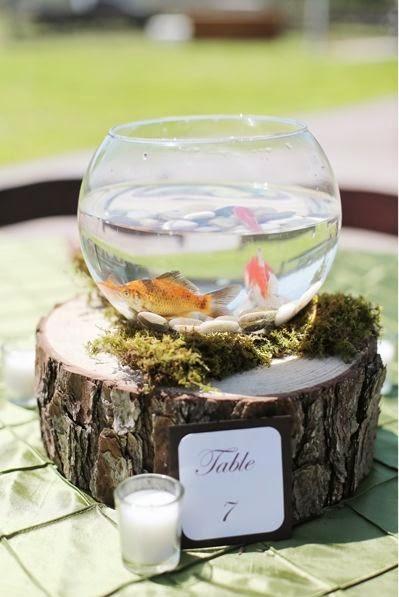 7 centros de mesa para bodas con peceras for Peceras con peces