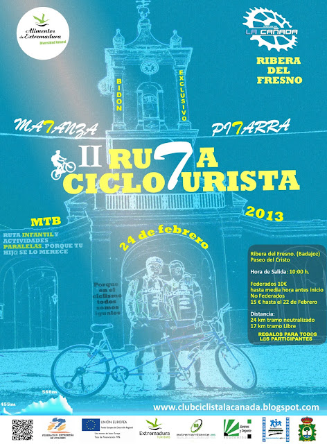"""II Ruta """"Matanza y Pitarra"""" Ribera del Fresno 24 Febrero CARTEL+RUTA+2013.2-2"""