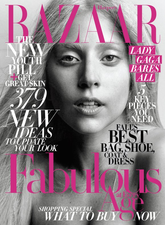 A Bare-Faced Lady GaGa For Harper&#8217;s Bazaar Magazine!