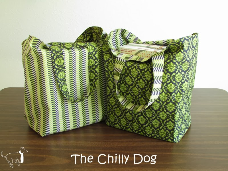 The Chilly Dog: Sewing Tutorial: Reversible Shopping Bags