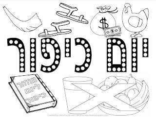 A Jewish Homeschool Blog Yom Kippur Mini Book And Yom Kippur Coloring Pages