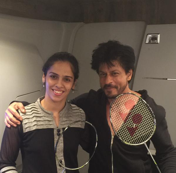 srk with saina