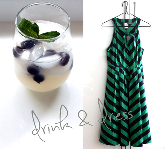 blue and green frocktail