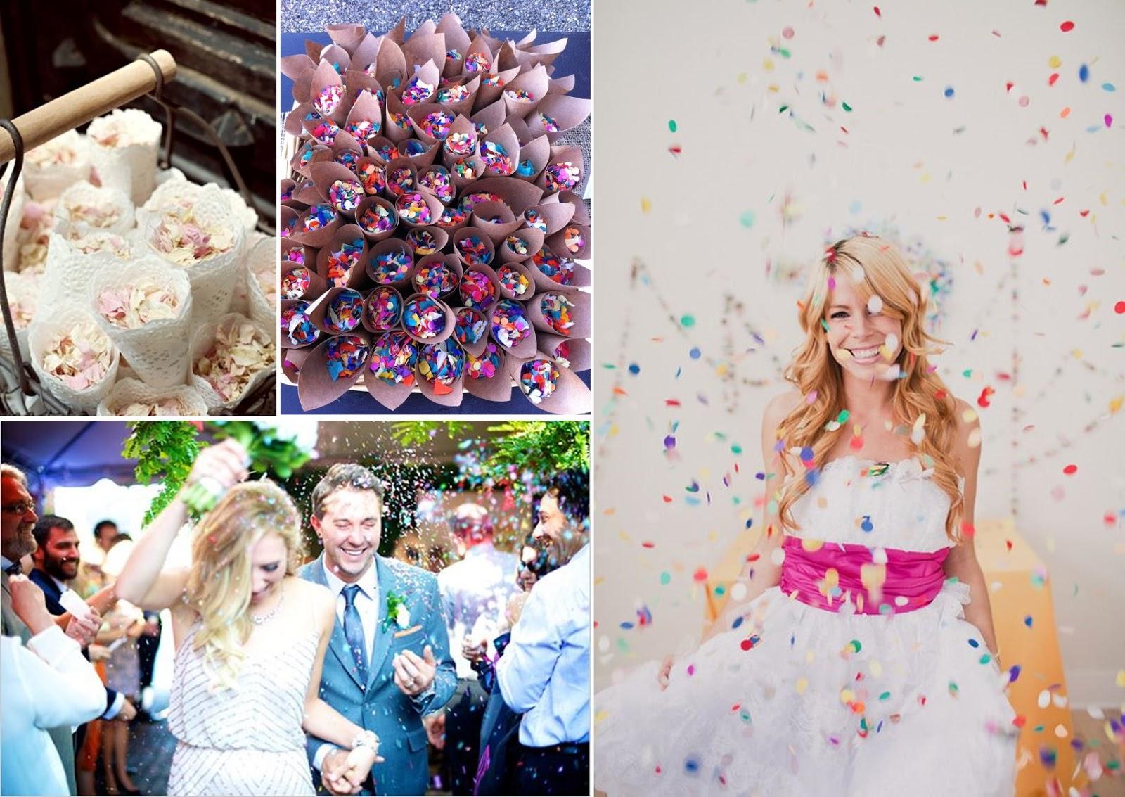 Confetti para lanzar al aire en bodas y eventos