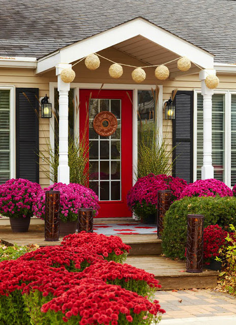 flower front door
