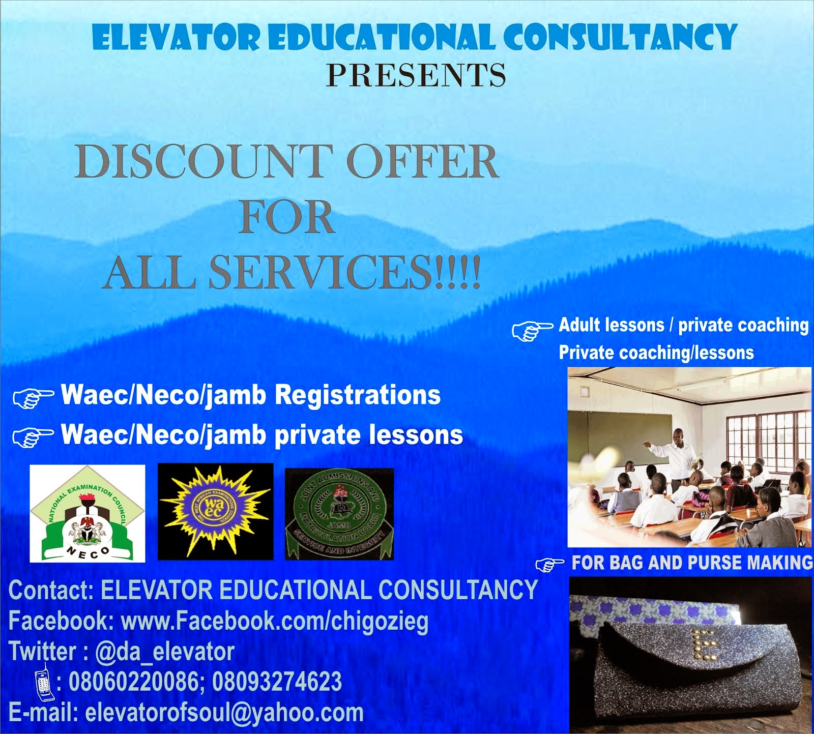 ELEVATOR EDUCATIONAL CONSULTANCY