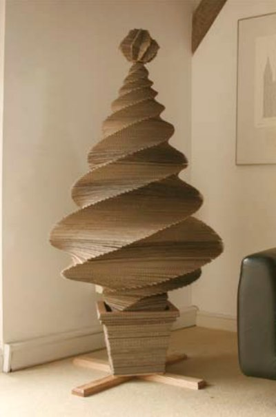 Corrugated paper Christmas tree 56
