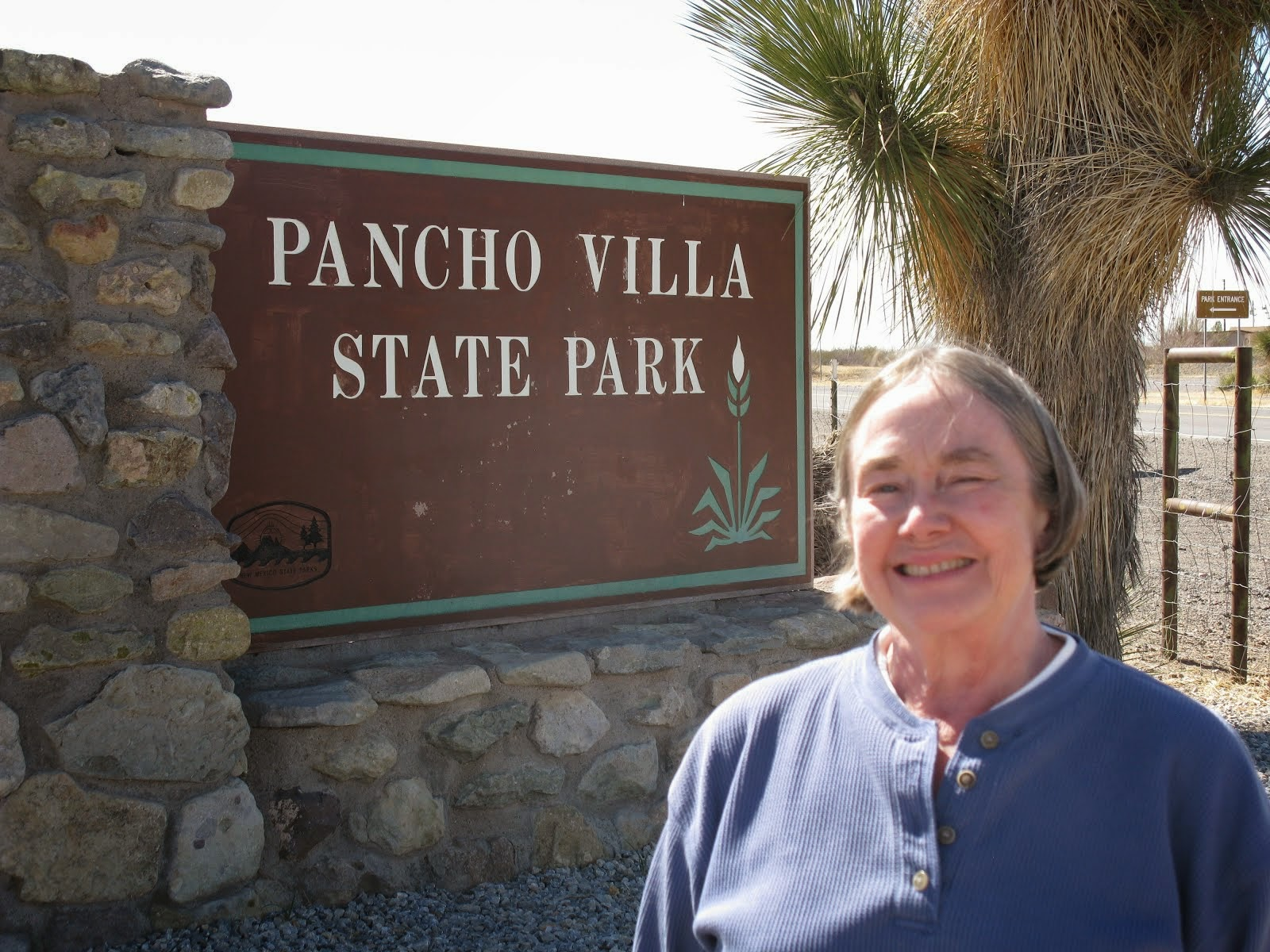 Pancho Villa State Park, Columbus, NM, and a tourist