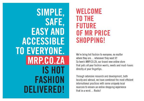 Online shopping south africa mr price