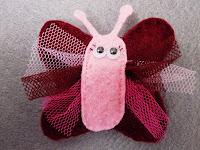 broche de mariposa de fieltro